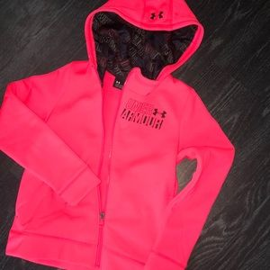 KIDS Under Armour hot pink cold gear jacket
